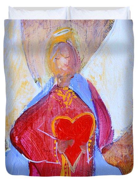 Precious Heart Angel Duvet Cover