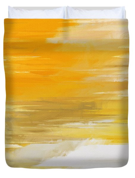 Precious Metals Abstract Duvet Cover