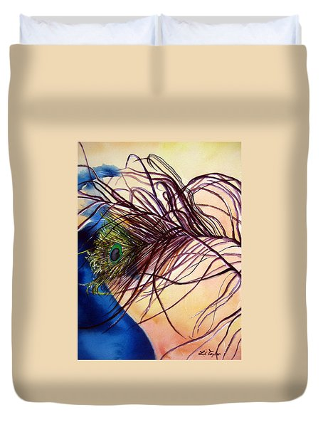 Preening For Attention Sold Duvet Cover by Lil Taylor