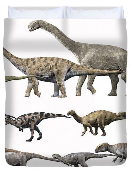 Prehistoric Era Dinosaurs Of Niger Duvet Cover by Nobumichi Tamura
