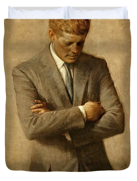 President John F. Kennedy Official Portrait By Aaron Shikler Duvet Cover by Movie Poster Prints