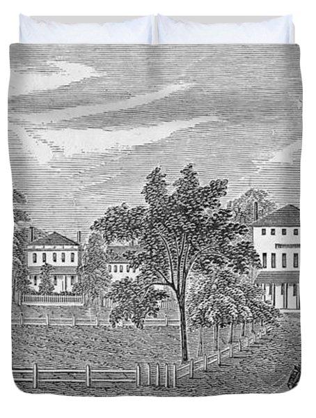 President Lincoln Leaving The Davis Mansion, Illustration From Battles And Leaders Of The Civil Duvet Cover
