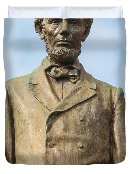 President Lincoln Statue Duvet Cover