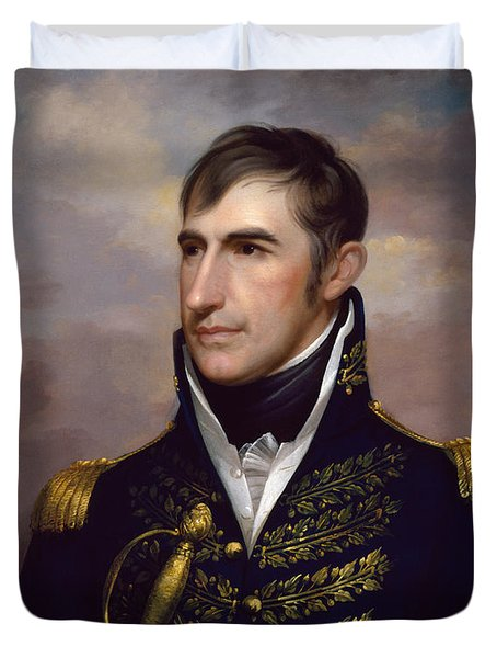 President William Henry Harrison Duvet Cover by War Is Hell Store