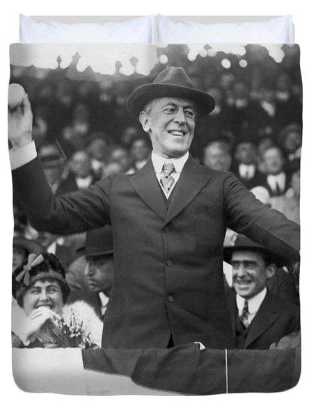 President Wilson Opens Season Duvet Cover