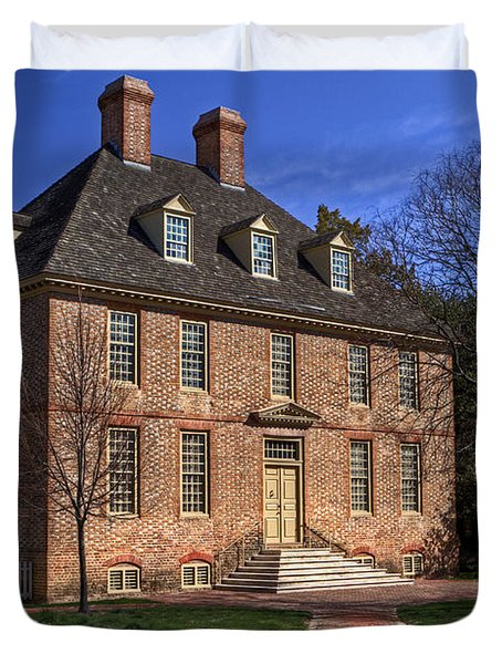 Duvet Cover featuring the photograph President's House College Of William And Mary by Jerry Gammon