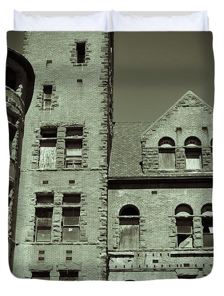 Preston Castle Tower Duvet Cover by Holly Blunkall