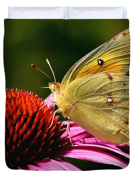 Pretty As A Butterfly Duvet Cover by Roger Becker