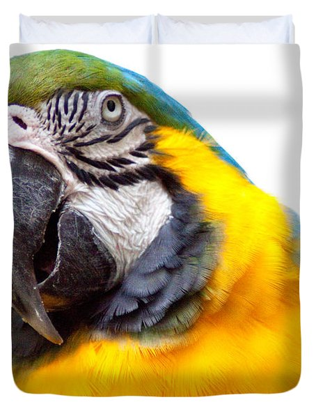 Duvet Cover featuring the photograph Pretty Bird by Roselynne Broussard