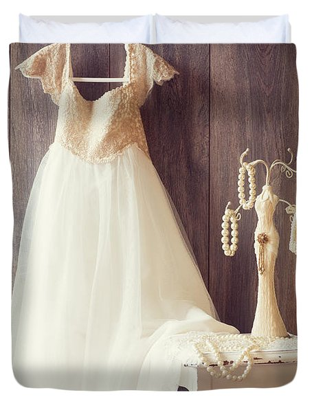 Pretty Dress Duvet Cover by Amanda Elwell