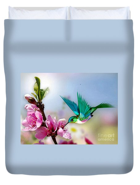 Pretty Hummingbird Duvet Cover