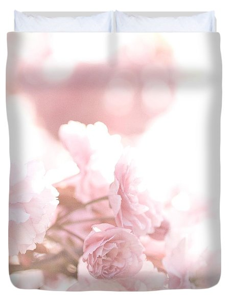 Pretty In Pink - The Confetti Duvet Cover by Lisa Parrish