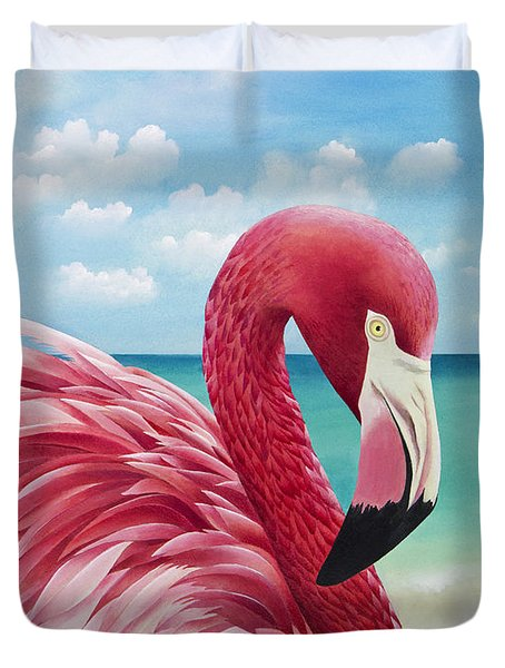 Pretty In Pink Duvet Cover by Carolyn Steele