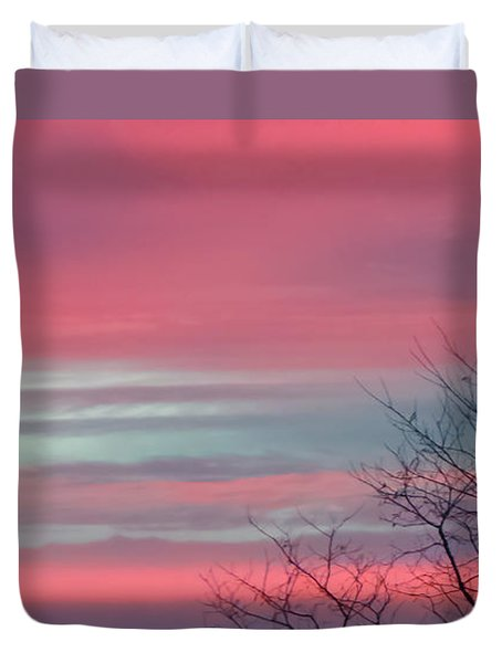Pretty In Pink Sunrise Duvet Cover
