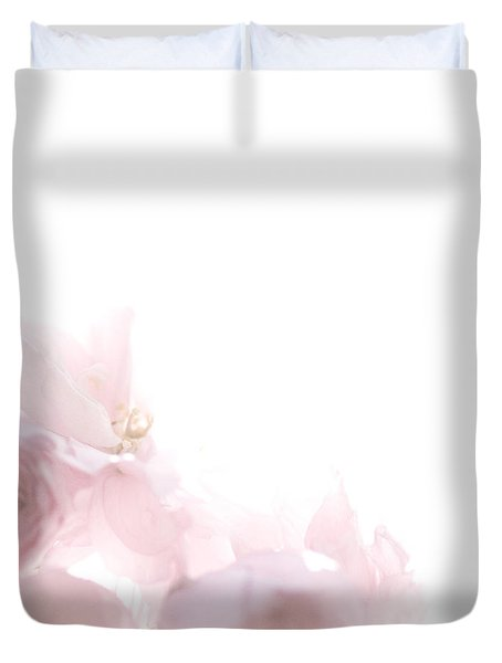 Duvet Cover featuring the photograph Pretty In Pink - The Dancer by Lisa Parrish