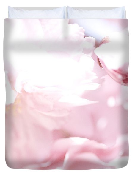 Duvet Cover featuring the photograph Pretty In Pink - The Sweet One by Lisa Parrish