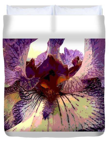 Duvet Cover featuring the photograph Pretty In Purple by Sally Simon