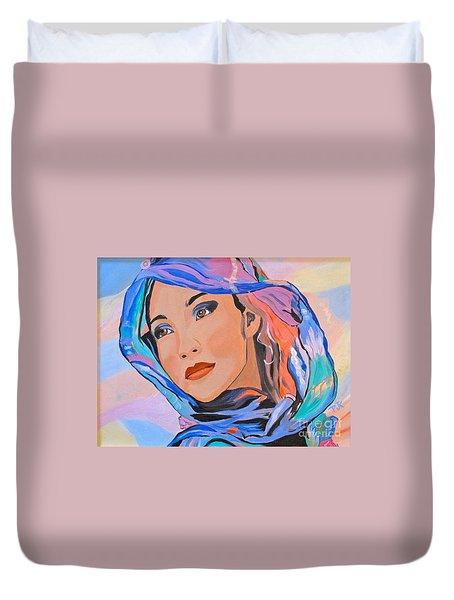 Pretty Lady Duvet Cover by Phyllis Kaltenbach