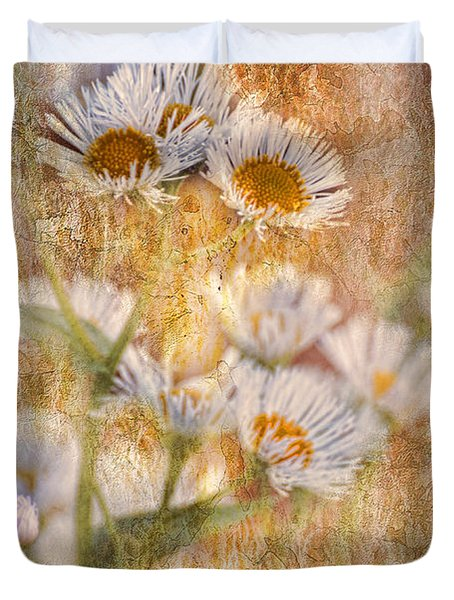 Pretty Little Weeds IIi Duvet Cover by Debbie Portwood
