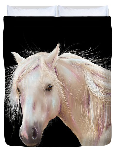 Pretty Palomino Pony Painting Duvet Cover