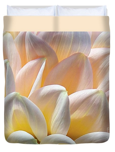 Pretty Pastel Petal Patterns Duvet Cover by Kaye Menner