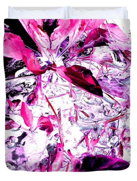 Duvet Cover featuring the photograph Pretty Pink Weeds 6 by Marianne Dow