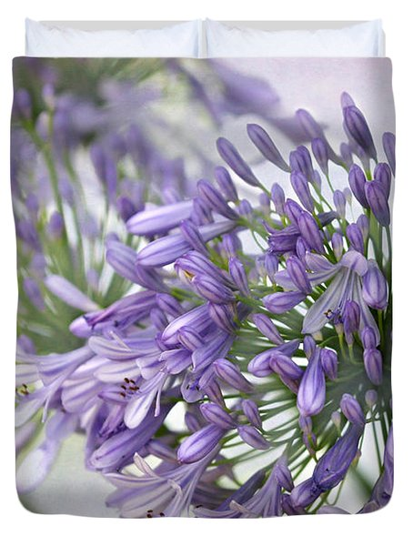 Pretty Purple Lily Of The Nile Duvet Cover