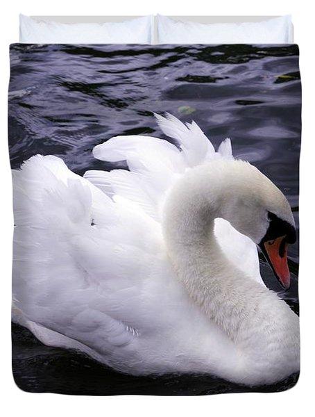 Pretty Swan Duvet Cover