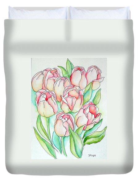 Pretty Tulips Duvet Cover