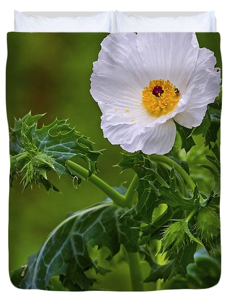 Prickly Poppy Duvet Cover by Gary Holmes