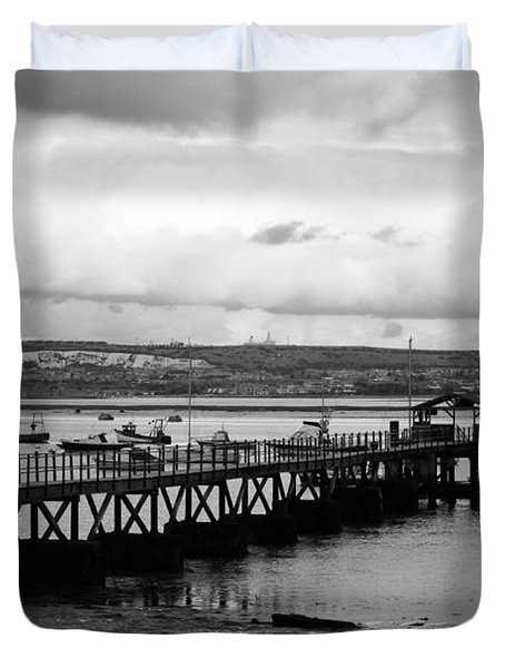 Priddy's Hard Jetty Duvet Cover by Terri Waters