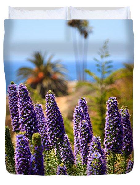 Pride Of Madeira Flowers In Orange County California Duvet Cover by Paul Velgos