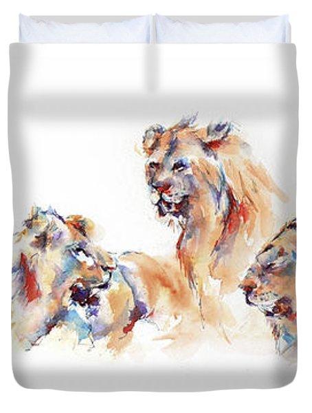 Pride Of Samburu Duvet Cover by Stephie Butler