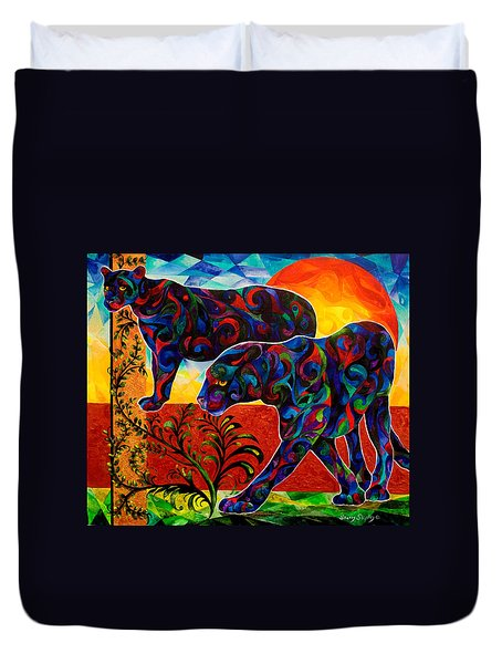 Primal Dance Duvet Cover