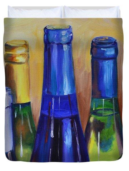 Primarily Wine Duvet Cover by Donna Tuten