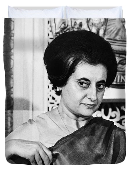 Prime Minister Indira Gandhi Duvet Cover