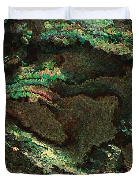 Primordial Life By Rafi Talby  Duvet Cover by Rafi Talby