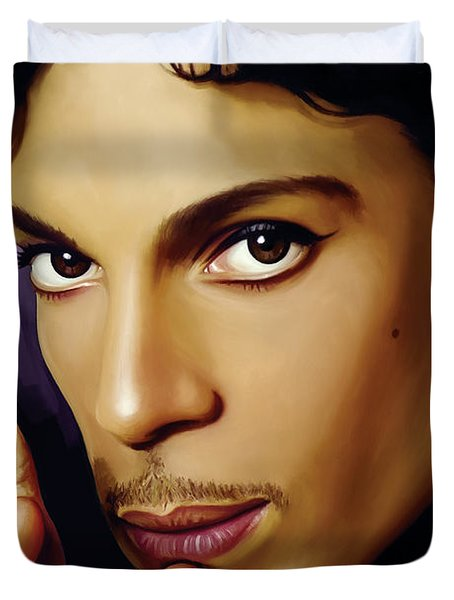Prince Artwork Duvet Cover by Sheraz A