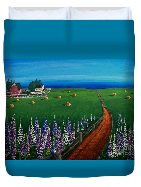 Prince Edward Island Coastal Farm Duvet Cover