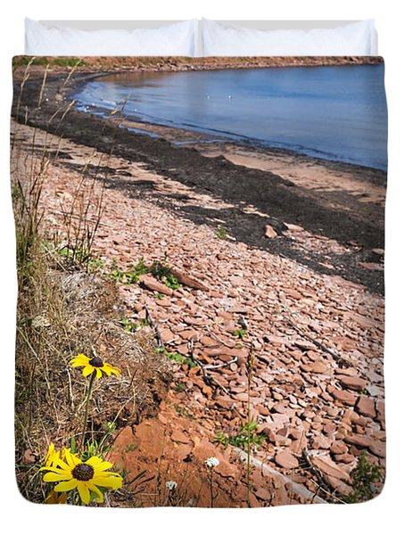 Prince Edward Island Coastline Duvet Cover by Elena Elisseeva