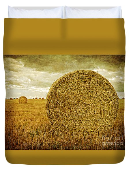 Prince Edward Island Pastoral Farm Fields Duvet Cover by Edward Fielding