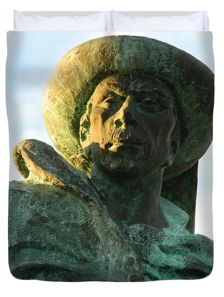 Duvet Cover featuring the photograph Prince Henry The Navigator by Kathy Barney