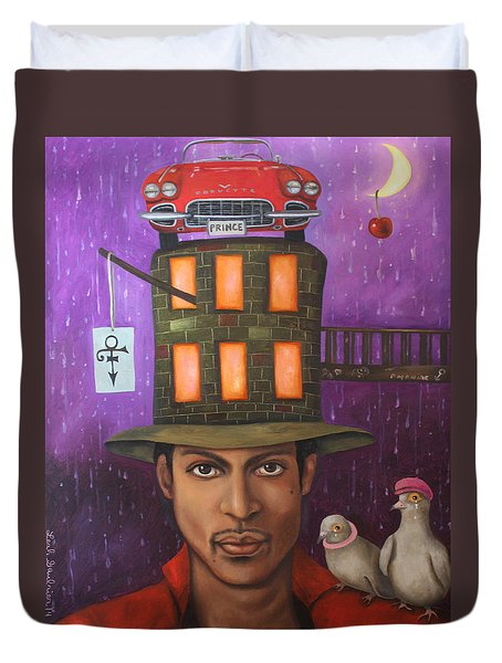 Prince Duvet Cover by Leah Saulnier The Painting Maniac
