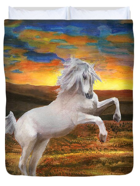 Prince Of The Fiery Plains Duvet Cover by Peter Piatt