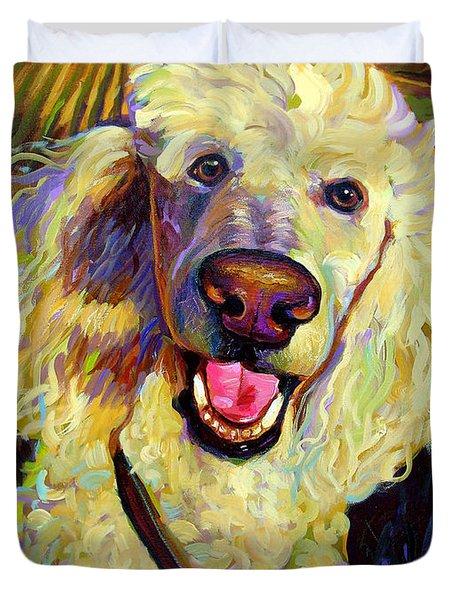Princely Poodle Duvet Cover