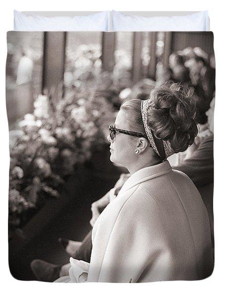 Princess Grace Of Monaco At The Irish Open Tennis Championship Duvet Cover by Irish Photo Archive