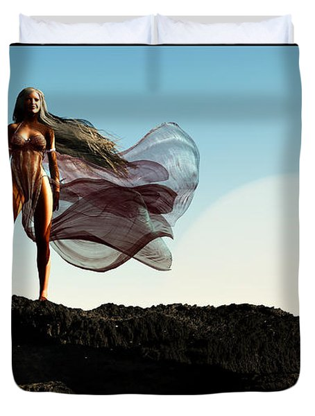 Princess Of Mars... Duvet Cover by Tim Fillingim