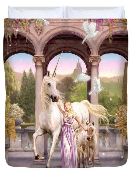 Princess Of The Unicorns Variant 1 Duvet Cover by Garry Walton