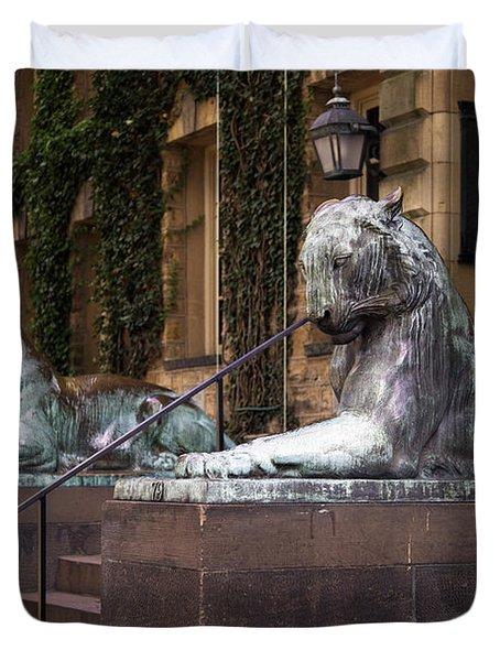 Princeton Tigers Duvet Cover by Madeline Ellis