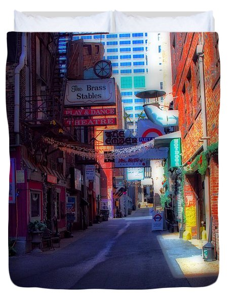 Printers Alley Nashville Tennessee Duvet Cover by Dan Sproul